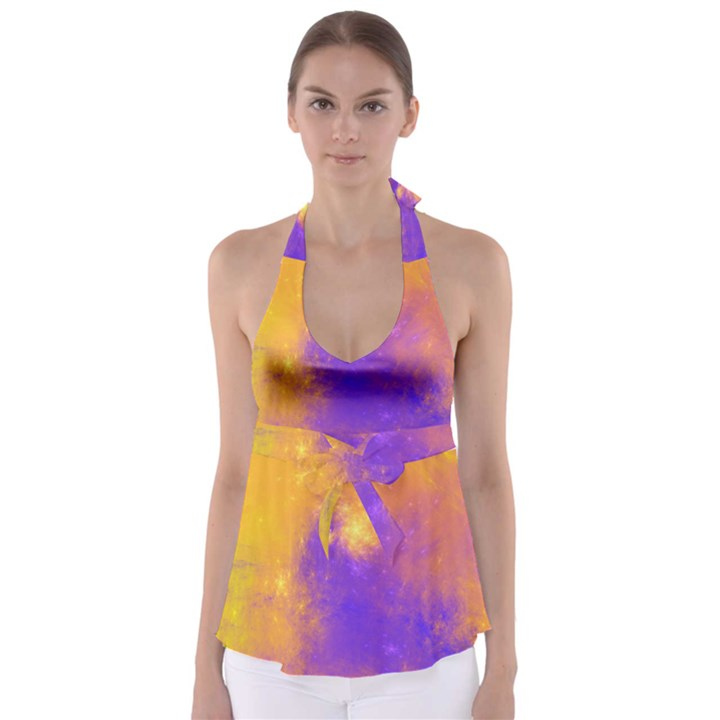 Colorful Universe Babydoll Tankini Top