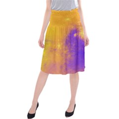 Colorful Universe Midi Beach Skirt by designworld65