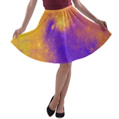 Colorful Universe A Line Skater Skirt