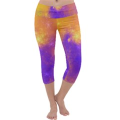 Colorful Universe Capri Yoga Leggings by designworld65