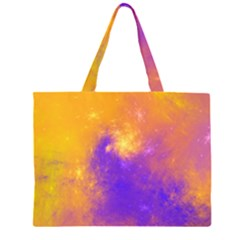 Colorful Universe Zipper Large Tote Bag by designworld65