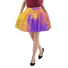 Colorful Universe A Line Pocket Skirt by designworld65