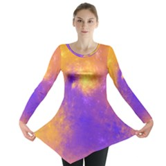 Colorful Universe Long Sleeve Tunic