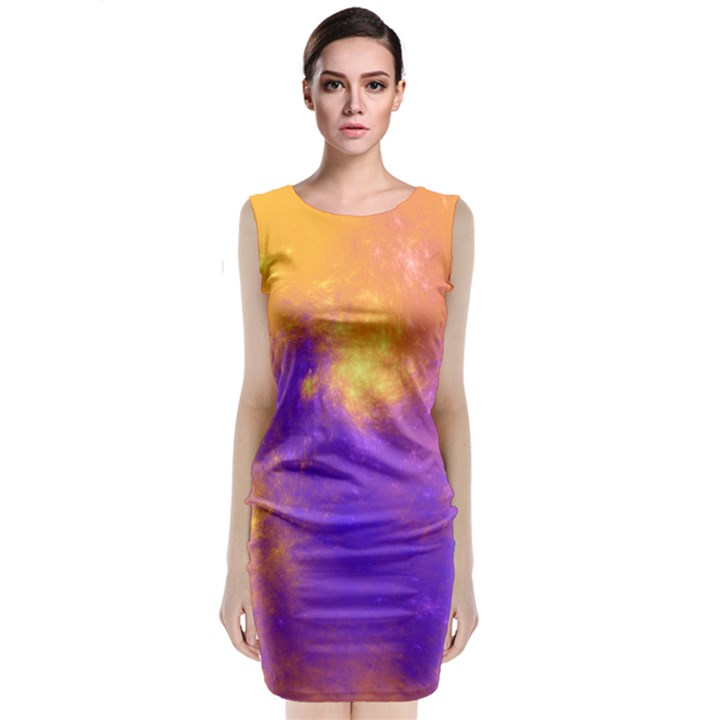 Colorful Universe Classic Sleeveless Midi Dress