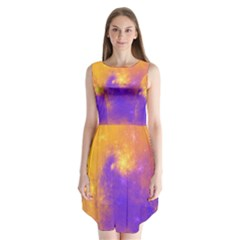Colorful Universe Sleeveless Chiffon Dress   by designworld65