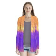 Colorful Universe Drape Collar Cardigan by designworld65