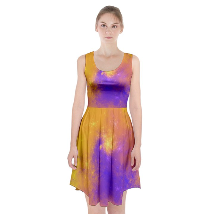 Colorful Universe Racerback Midi Dress
