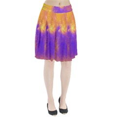 Colorful Universe Pleated Skirt