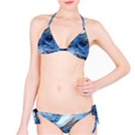Blue Colorful Abstract Design  Bikini Set