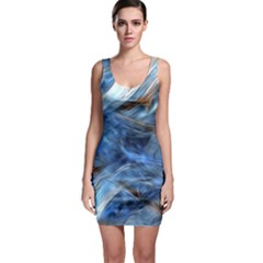 Blue Colorful Abstract Design  Sleeveless Bodycon Dress by designworld65
