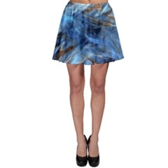 Blue Colorful Abstract Design  Skater Skirt by designworld65