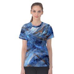 Blue Colorful Abstract Design  Women s Cotton Tee by designworld65
