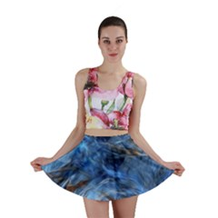Blue Colorful Abstract Design  Mini Skirt
