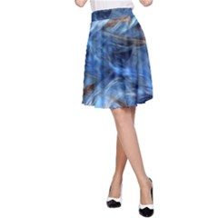 Blue Colorful Abstract Design  A Line Skirt by designworld65