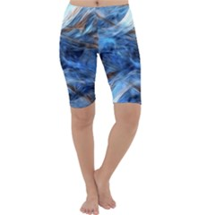Blue Colorful Abstract Design  Cropped Leggings  by designworld65