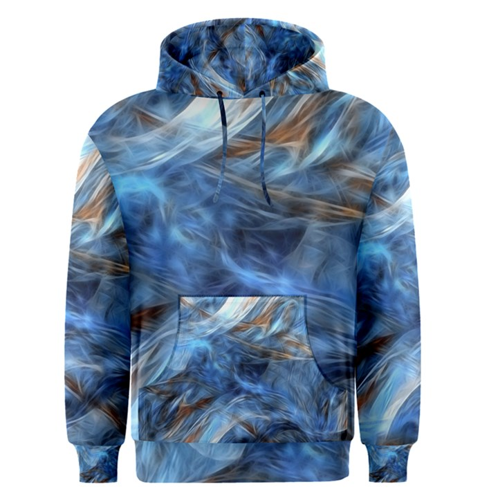 Blue Colorful Abstract Design  Men s Pullover Hoodie