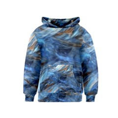 Blue Colorful Abstract Design  Kids  Pullover Hoodie by designworld65