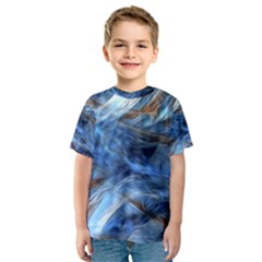 Blue Colorful Abstract Design  Kids  Sport Mesh Tee by designworld65