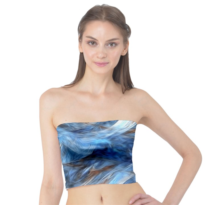 Blue Colorful Abstract Design  Tube Top