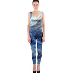 Blue Colorful Abstract Design  Onepiece Catsuit by designworld65