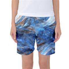 Blue Colorful Abstract Design  Women s Basketball Shorts by designworld65