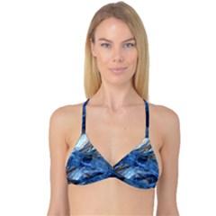 Blue Colorful Abstract Design  Reversible Tri Bikini Top by designworld65