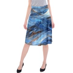 Blue Colorful Abstract Design  Midi Beach Skirt