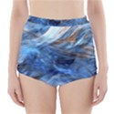 Blue Colorful Abstract Design  High-Waisted Bikini Bottoms View1