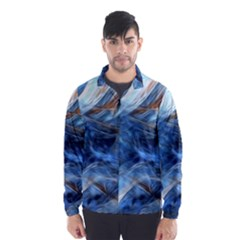 Blue Colorful Abstract Design  Wind Breaker (men) by designworld65