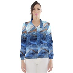 Blue Colorful Abstract Design  Wind Breaker (women) by designworld65