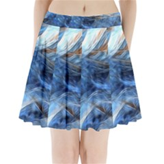 Blue Colorful Abstract Design  Pleated Mini Skirt by designworld65