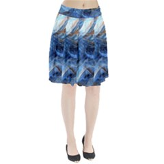 Blue Colorful Abstract Design  Pleated Skirt by designworld65