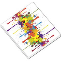 Crazy Multicolored Double Running Splashes Small Memo Pads by EDDArt