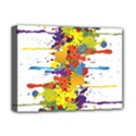 Crazy Multicolored Double Running Splashes Deluxe Canvas 16  x 12   View1