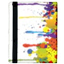 Crazy Multicolored Double Running Splashes Apple iPad 2 Flip Case View3