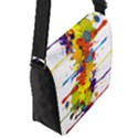 Crazy Multicolored Double Running Splashes Flap Messenger Bag (S) View2