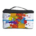 Crazy Multicolored Double Running Splashes Cosmetic Storage Case View1