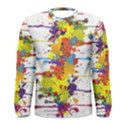 Crazy Multicolored Double Running Splashes Men s Long Sleeve Tee View1