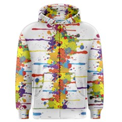 Crazy Multicolored Double Running Splashes Men s Zipper Hoodie