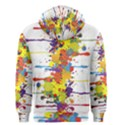 Crazy Multicolored Double Running Splashes Men s Zipper Hoodie View2