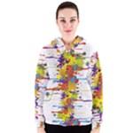 Crazy Multicolored Double Running Splashes Women s Zipper Hoodie