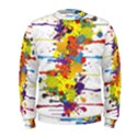 Crazy Multicolored Double Running Splashes Men s Sweatshirt View1