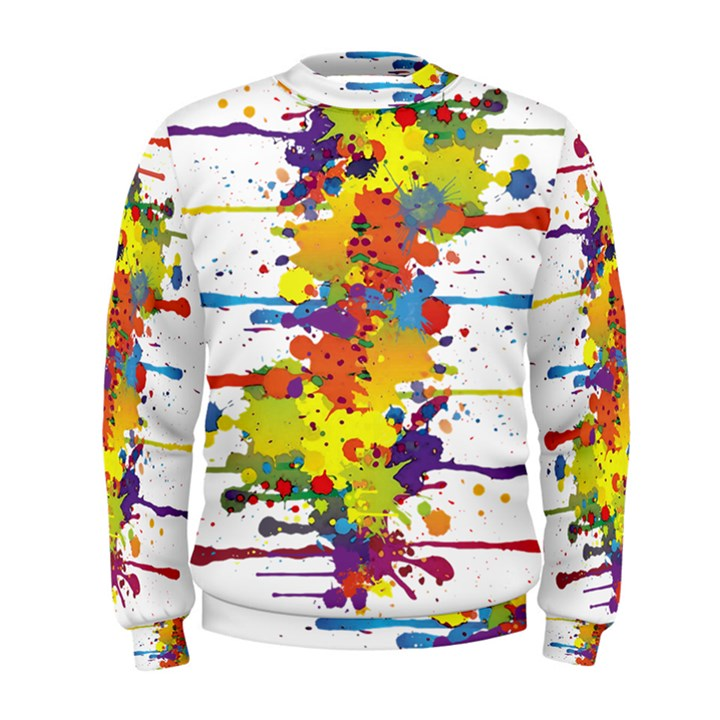Crazy Multicolored Double Running Splashes Men s Sweatshirt
