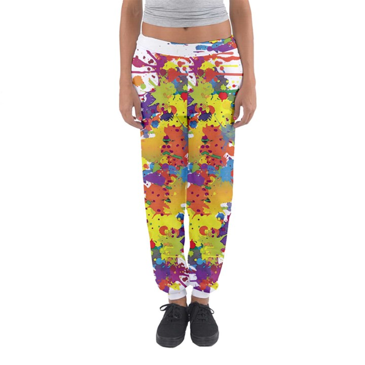 Crazy Multicolored Double Running Splashes Women s Jogger Sweatpants