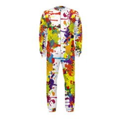 Crazy Multicolored Double Running Splashes Onepiece Jumpsuit (kids) by EDDArt