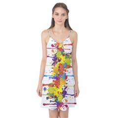 Crazy Multicolored Double Running Splashes Camis Nightgown by EDDArt