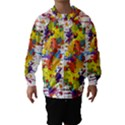 Crazy Multicolored Double Running Splashes Hooded Wind Breaker (Kids) View1