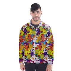 Crazy Multicolored Double Running Splashes Wind Breaker (men) by EDDArt
