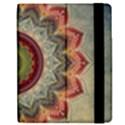 Folk Art Lotus Mandala Dirty Blue Red Apple iPad 2 Flip Case View2