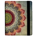 Folk Art Lotus Mandala Dirty Blue Red Apple iPad Mini Flip Case View2
